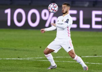 MADRID, SPAIN - NOVEMBER 03:  Eden Hazard of Real Madrid in action during the UEFA Champions League Group B stage match between Real Madrid and FC Internazionale at Estadio Alfredo Di Stefano on November 03, 2020 in Madrid, Spain. (Photo by Diego Souto/Quality Sport Images/Getty Images)